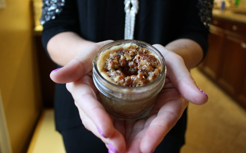 Mini Mason Jar Pecan Pies and Coffee Gift Box Idea