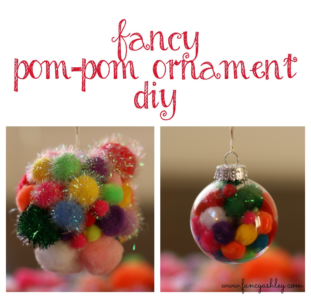 fancy pom-pom ornament diy