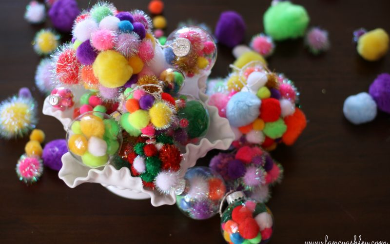 DIY Fancy Pom-Pom Ornaments