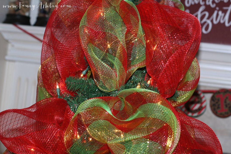Christmas Tree With Mesh Ribbon Images.Fancy Christmas Tree Deco Mesh Video Tutorial Fancy Ashley
