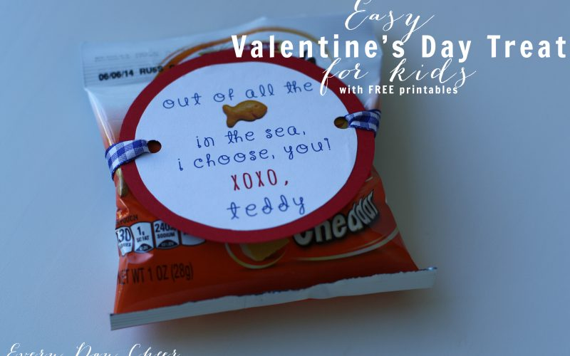 Easy Valentine's Day Treat for Kids with Free Printables