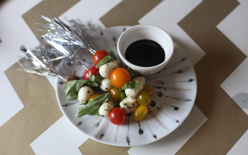Fancy Caprese Skewers