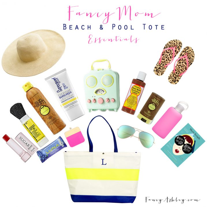 Pool and Beach Tote Essentials // Fancy Ashley