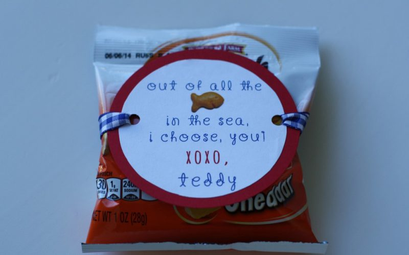 Goldfish Valentine's Day Treat with FREE Printables