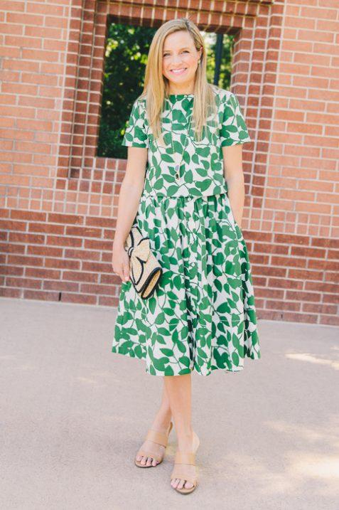 Kate Spade Crop Top and Skirt