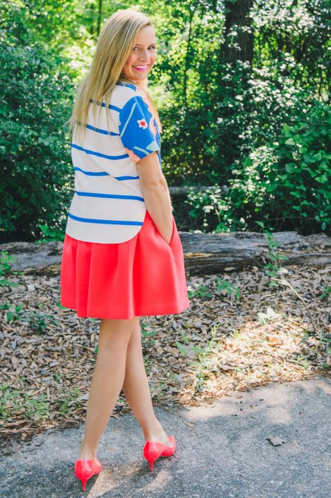 Kate Spade Pink Skirt and Floral Top