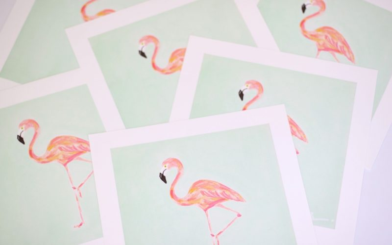 Flamingo Print Giveaway-5 winners