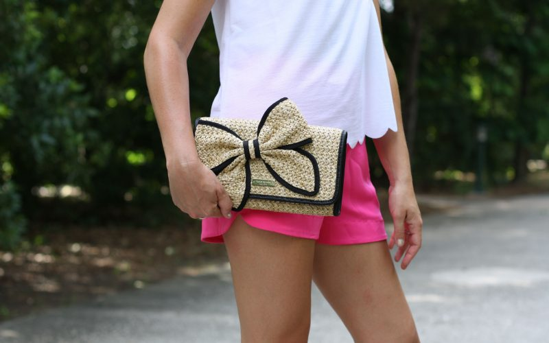 Everyday Fancy: Scalloped Tee and Pink Shorts