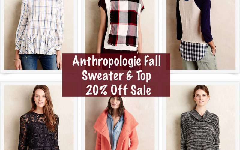 Anthropologie Fall Sweater and Top Sale