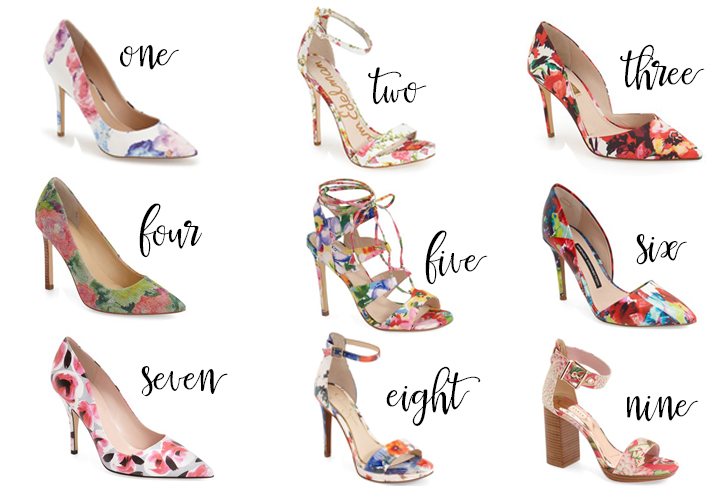 floral shoes spring