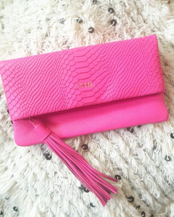Neon Pink Clutch