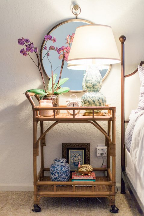 nightstand bar cart