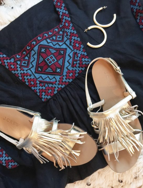 embroidered-dress-fringe-sandals