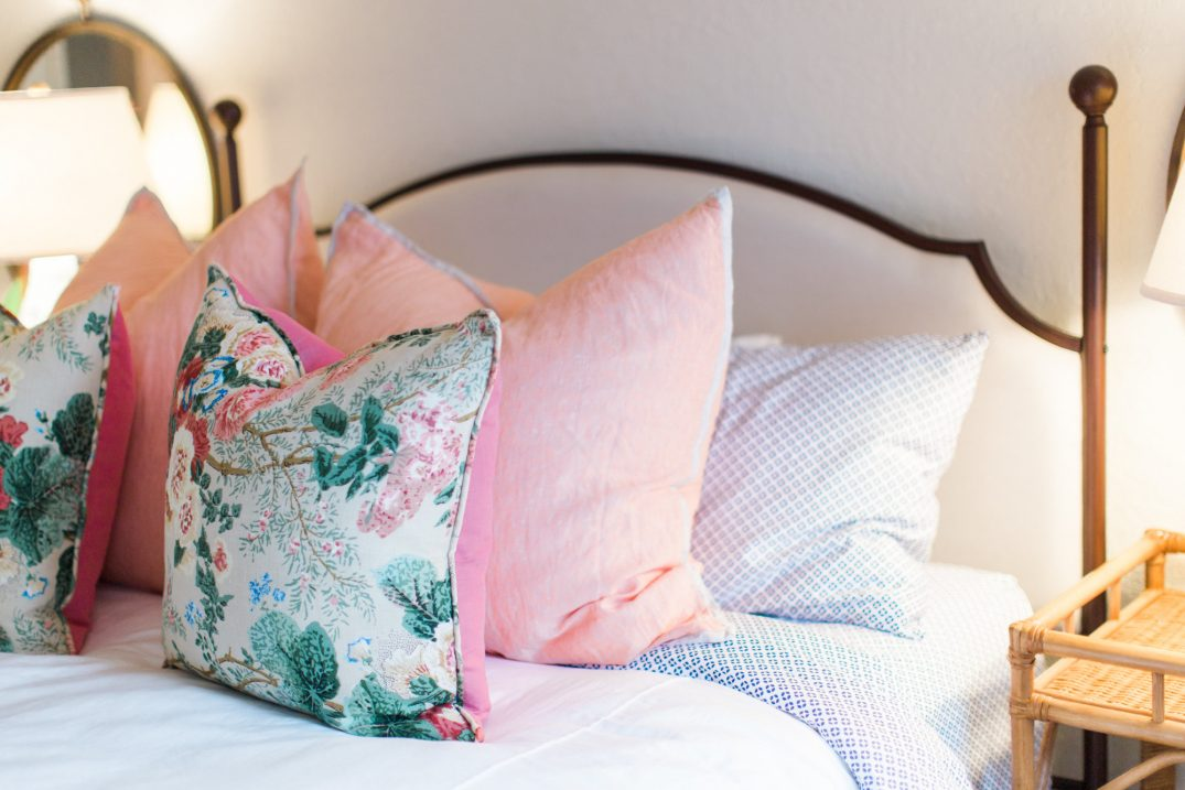 floral bedroom pillows