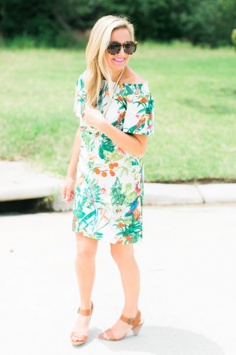 off the shoulder dress j.crew