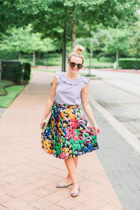 brushstroke skirt jcrew