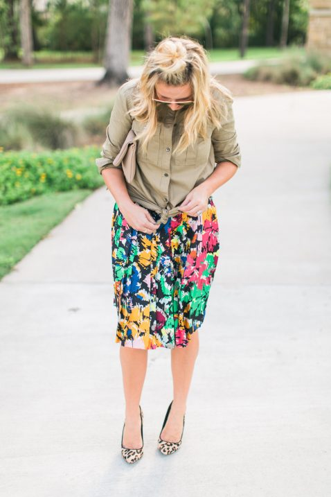 brushstroke skirt