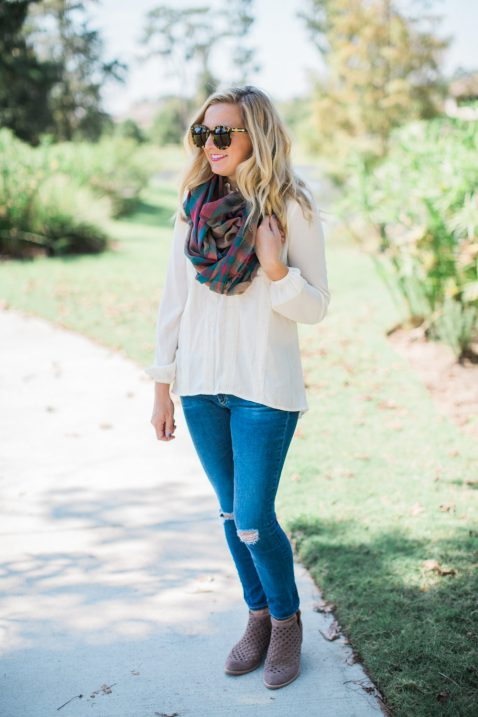 plaid scarves for fall