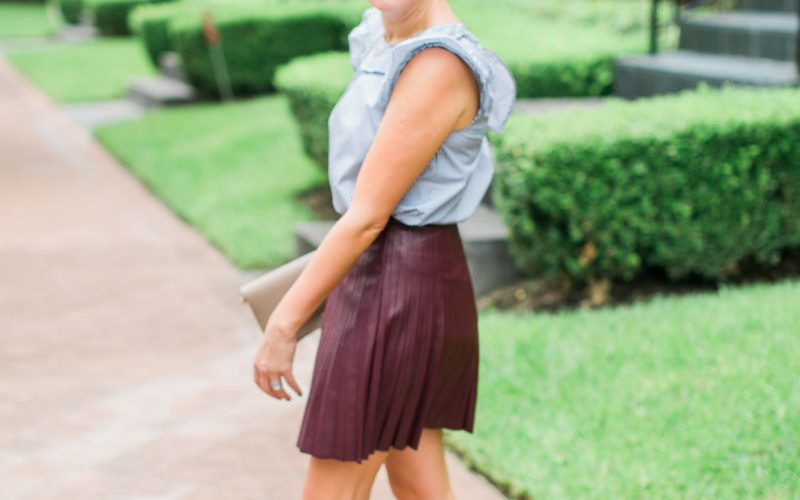 Trend Alert: Faux Leather Skirts
