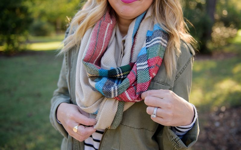 Trend Alert: Scarves and Military Jackets
