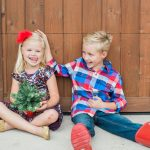 kid holiday card photo ideas