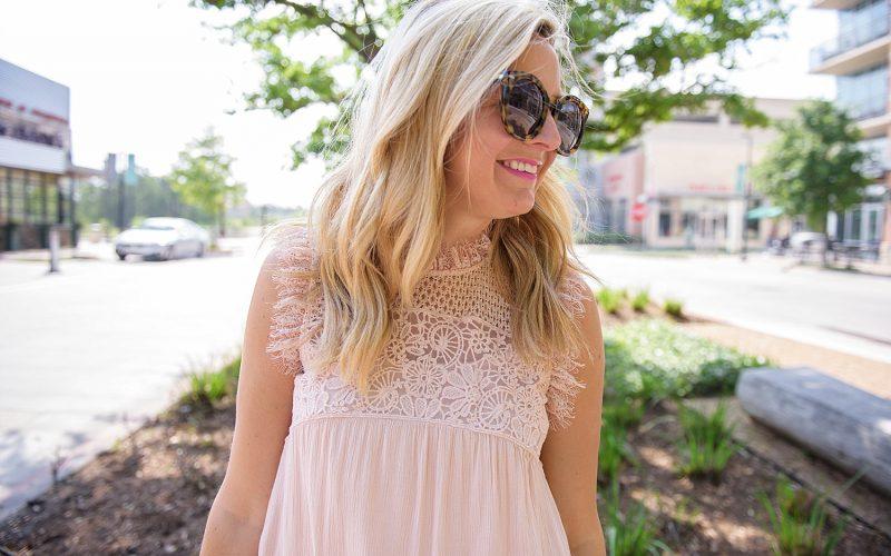 Blush Pink Babydoll Dress