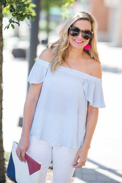 ea288b00bc508e If you don't love the stripes, this TOP also comes in numerous other  colors. All in all, this the perfect spring and summer outfit, you guys!