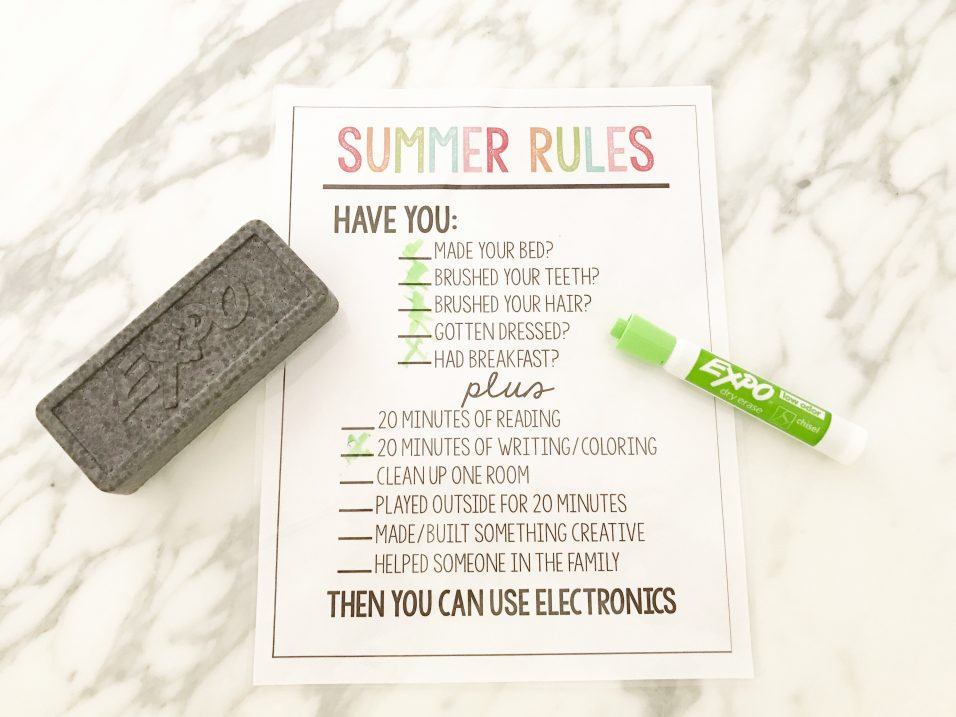 Summer Rules for Kids