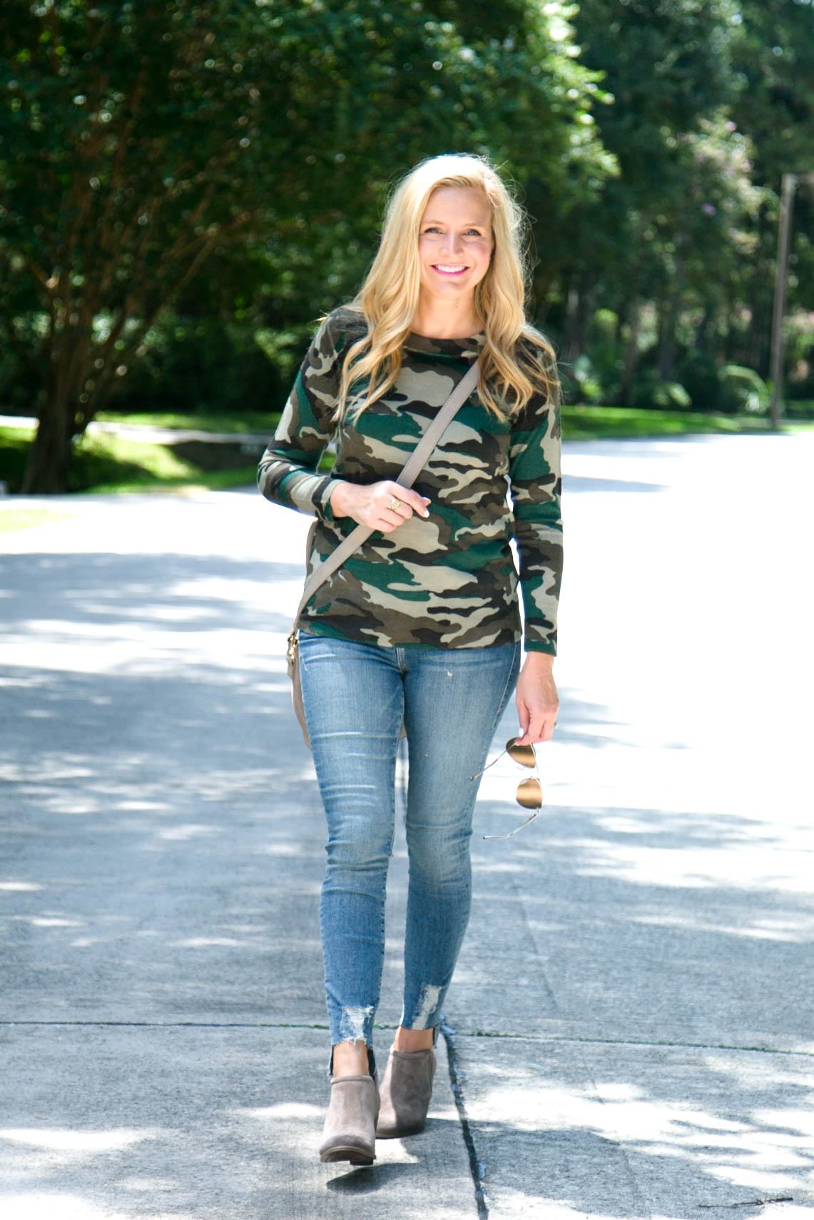 J Crew Favorites on Amazon, featured by popular Houston fashion blogger, Fancy Ashley: J Crew camo seater
