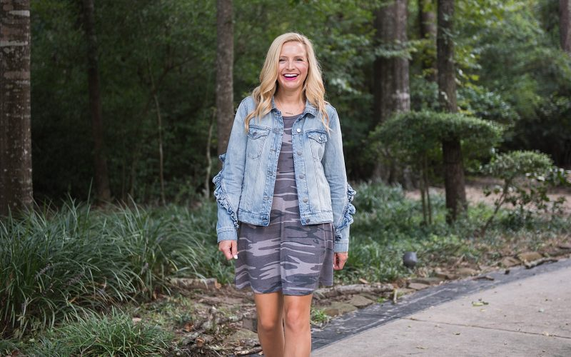 Friday Favorites & Camo Dress and Jean Jacket