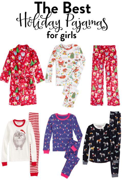 girls holiday pajamas