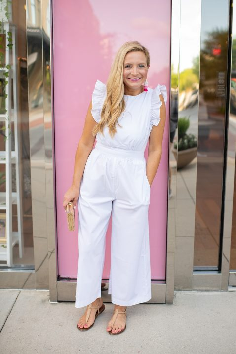 9ec3b90bcf5 1901 Ruffle Jumpsuit styled by popular Houston style blogger