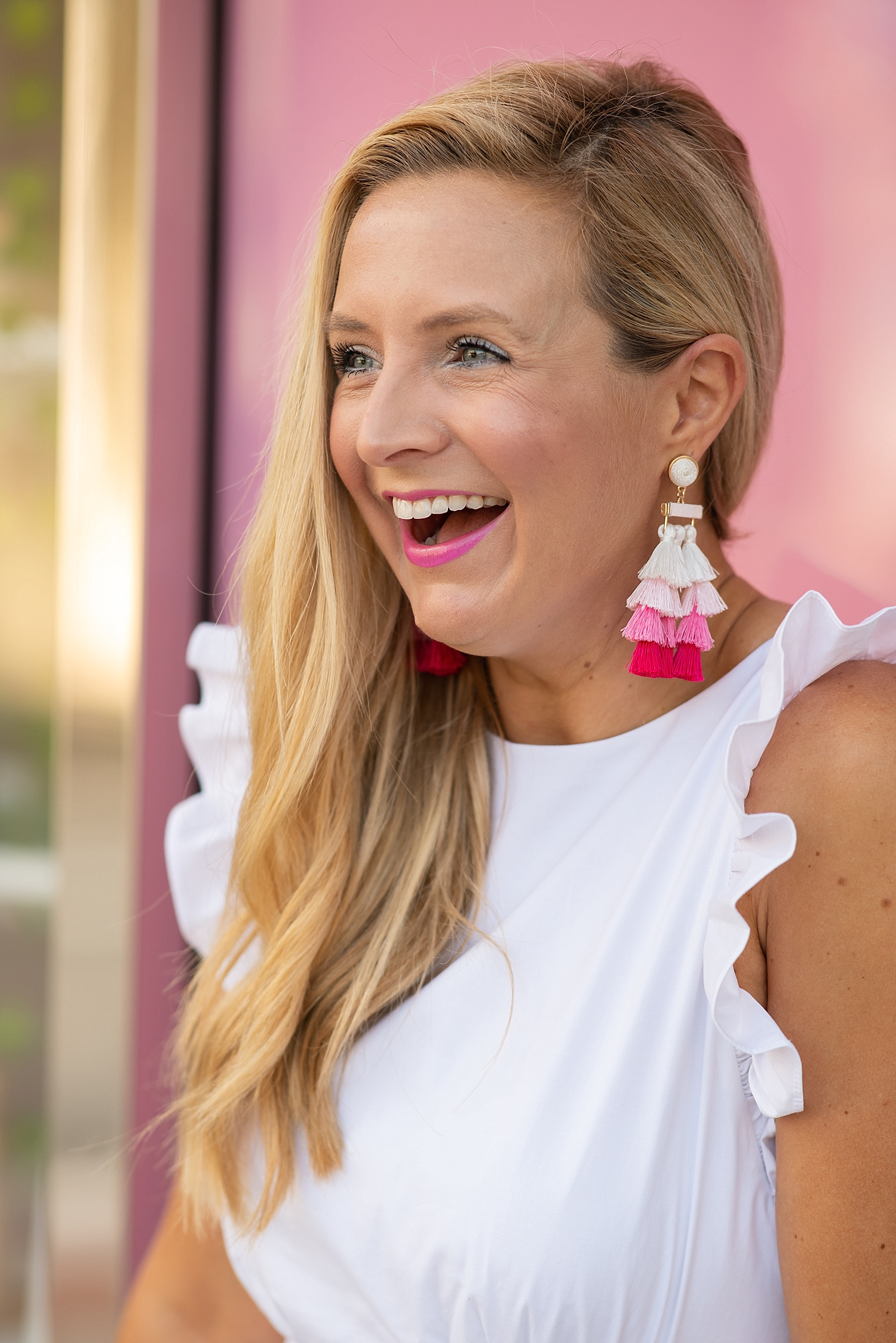 Summer Statement Earrings featured by popular Houston fashion blogger, Fancy Ashley