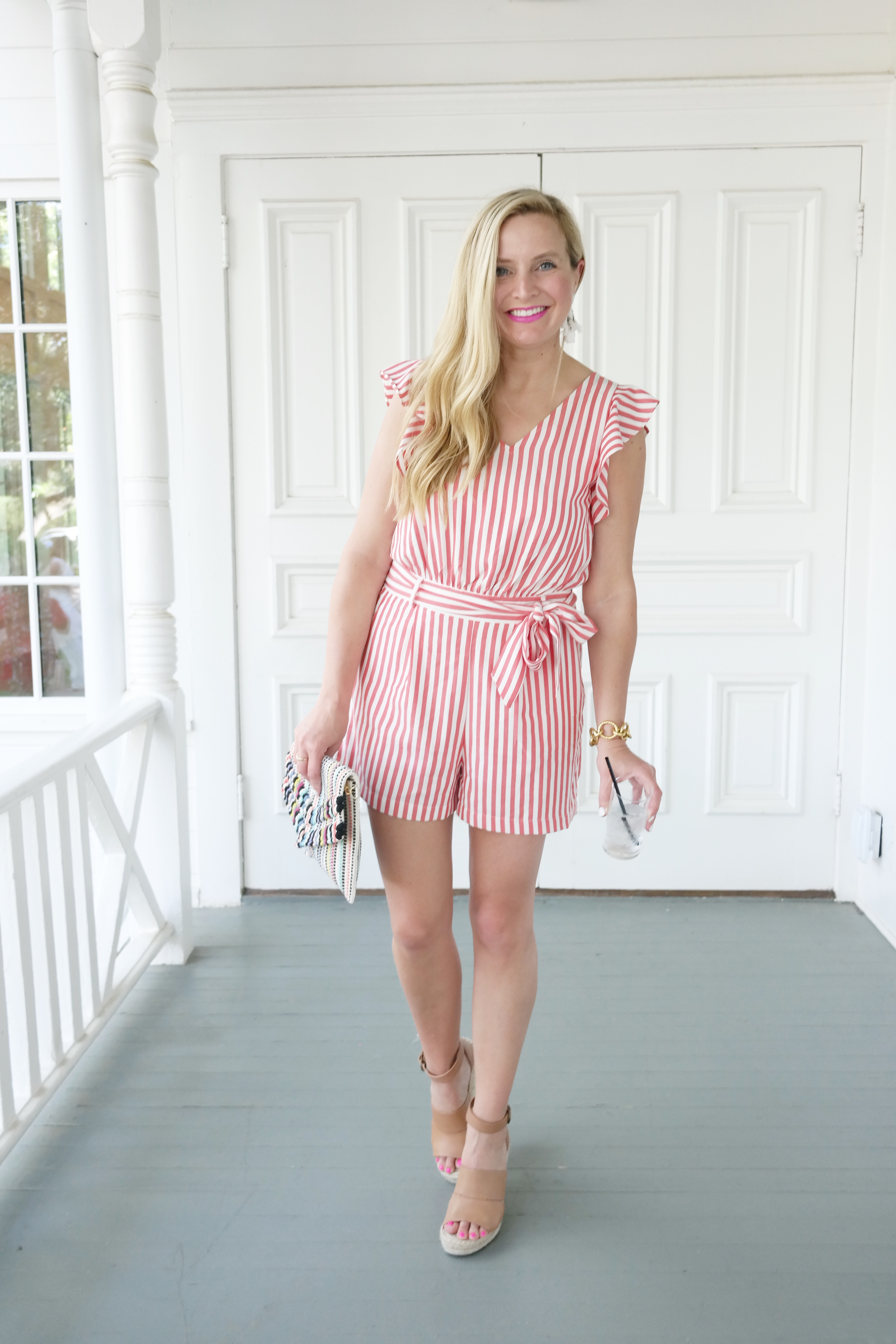 Loft Romper - Nordstrom Summer Outfits styled by popular Houston fashion blogger, Fancy Ashley