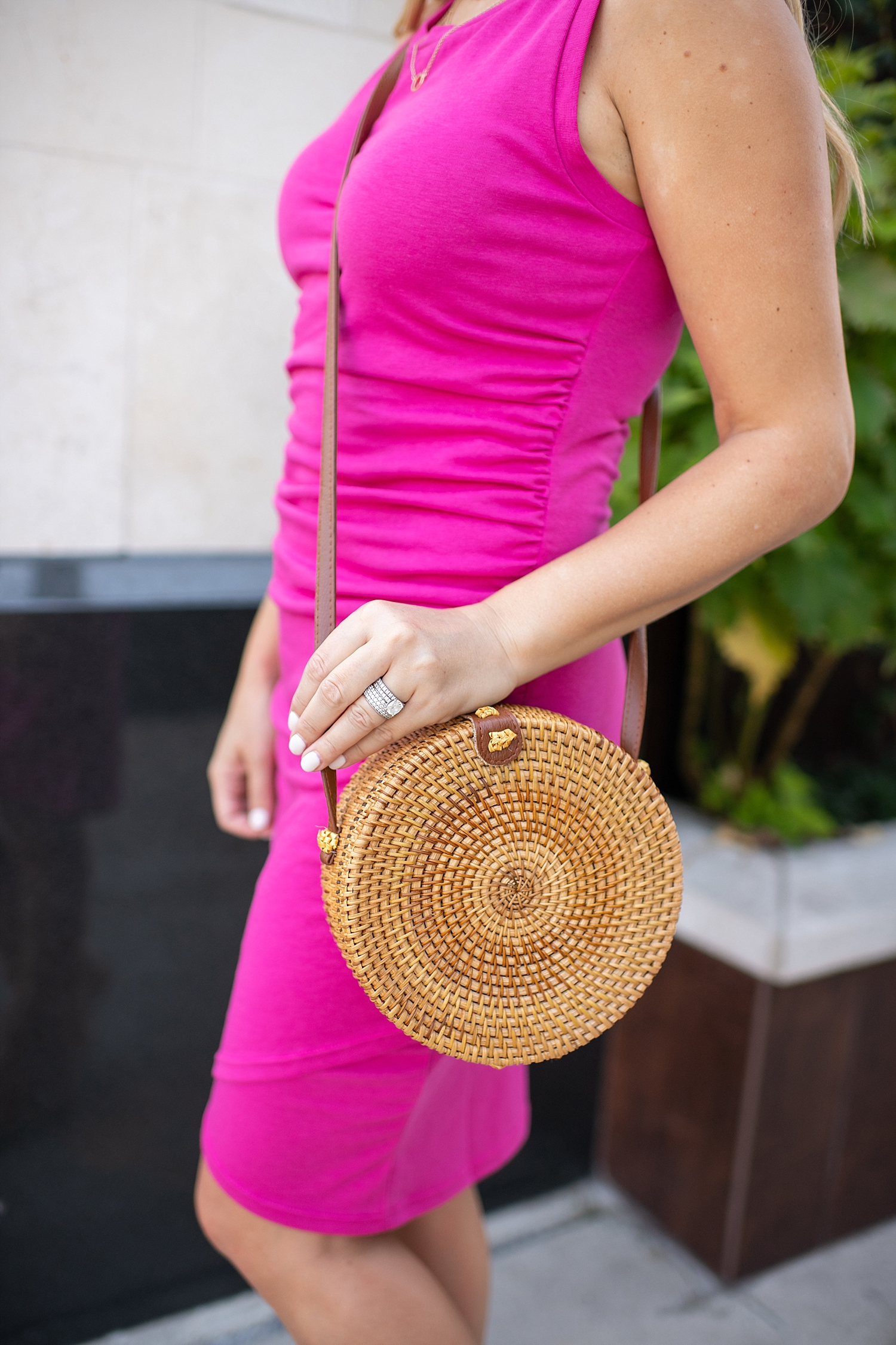 Recent Amazon Favorites featured by popular Houston life and style blogger, Fancy Ashley: rattan bag