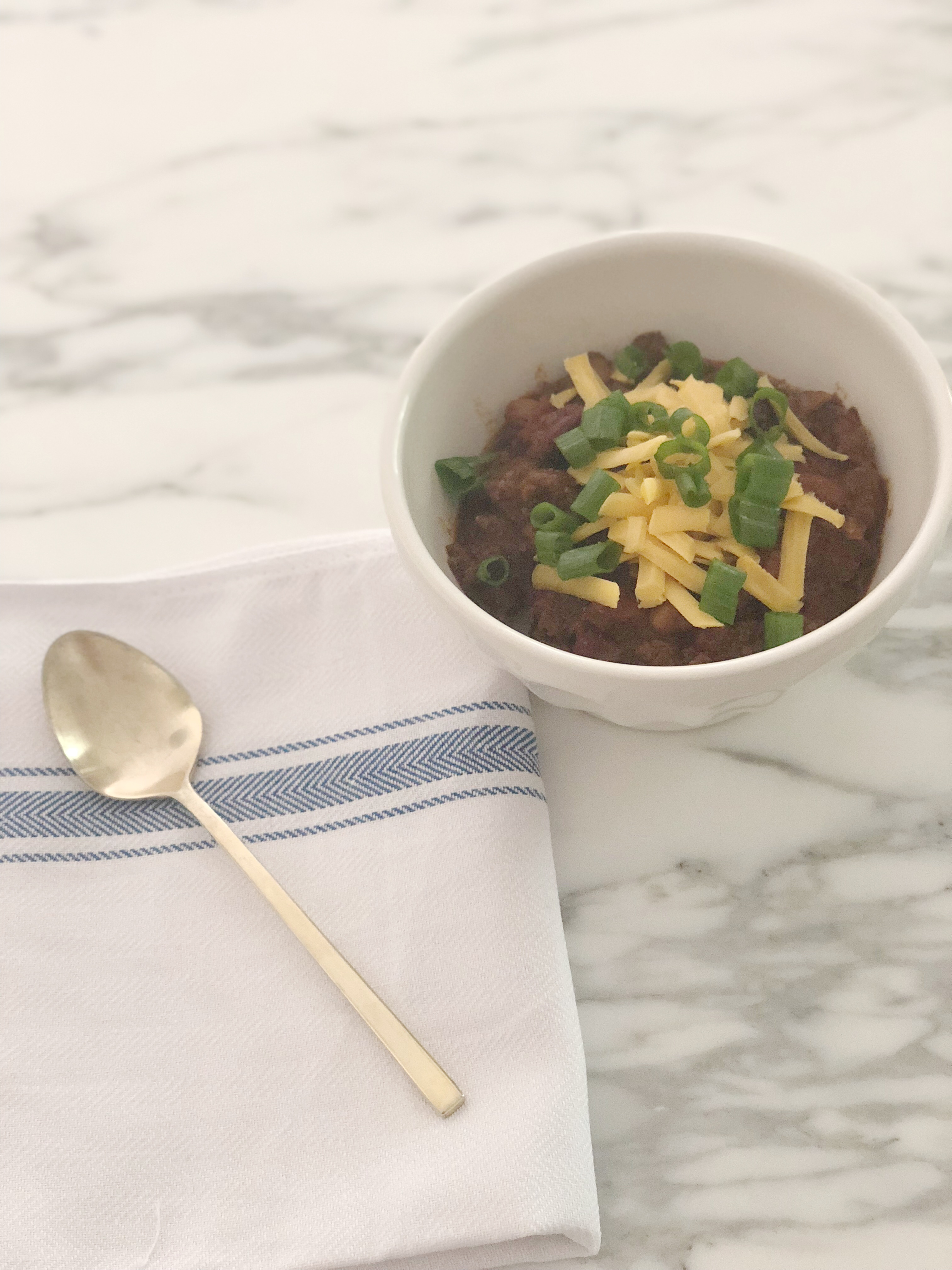 The Best Beef Chili Recipe featured by popular Houston life and style blogger, Fancy Ashley