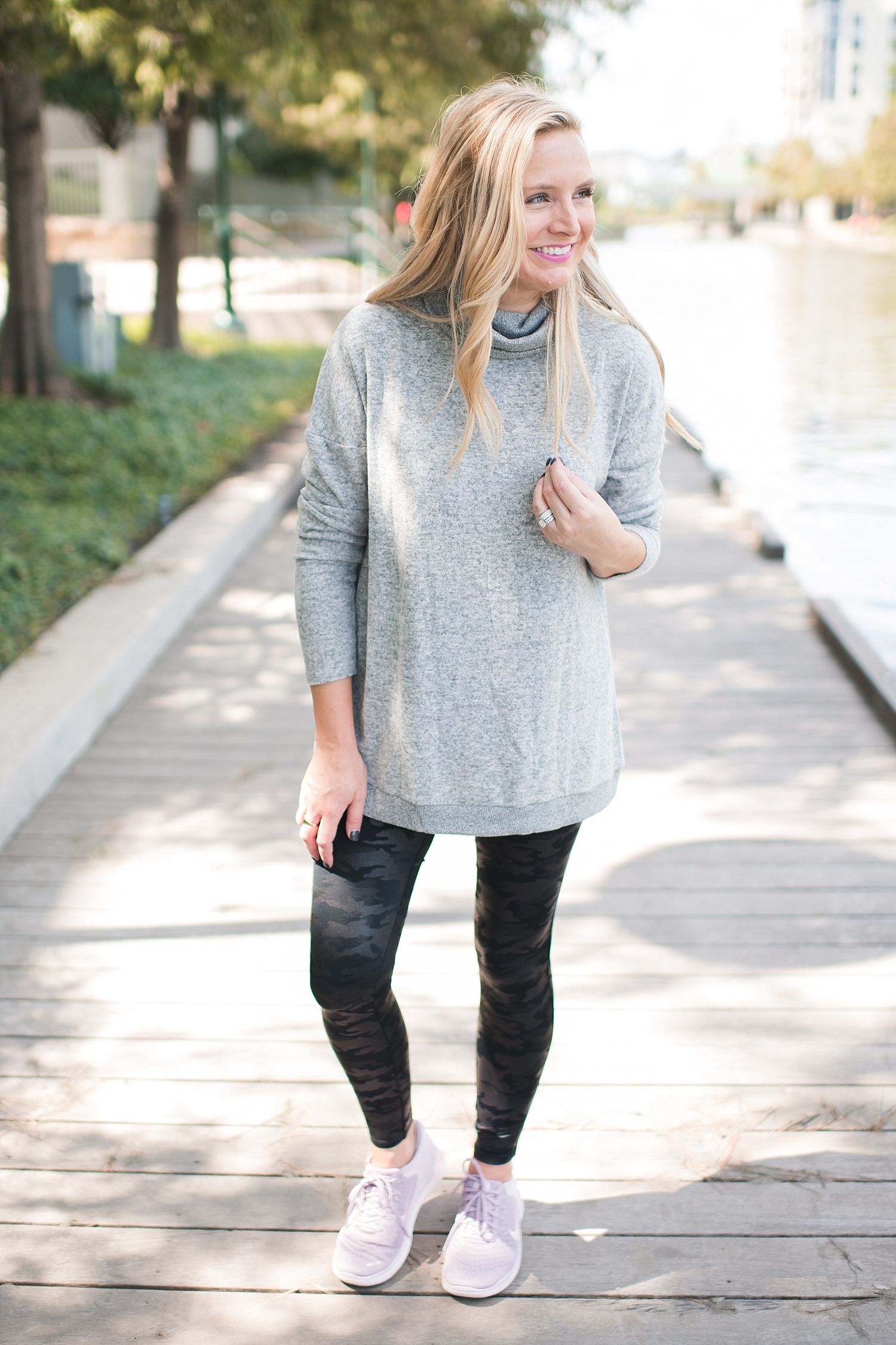 Fall Athleisure outfit from eBay featured by top Houston fashion blog, Fancy Ashley