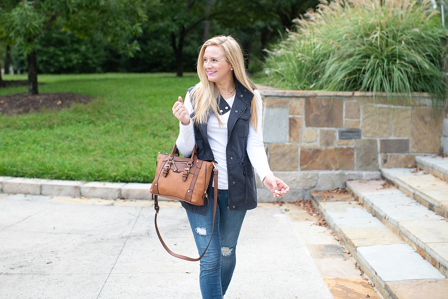 Nordstrom utility vest, a Fall essential, featured by popular Houston fashion blogger, Fancy Ashley