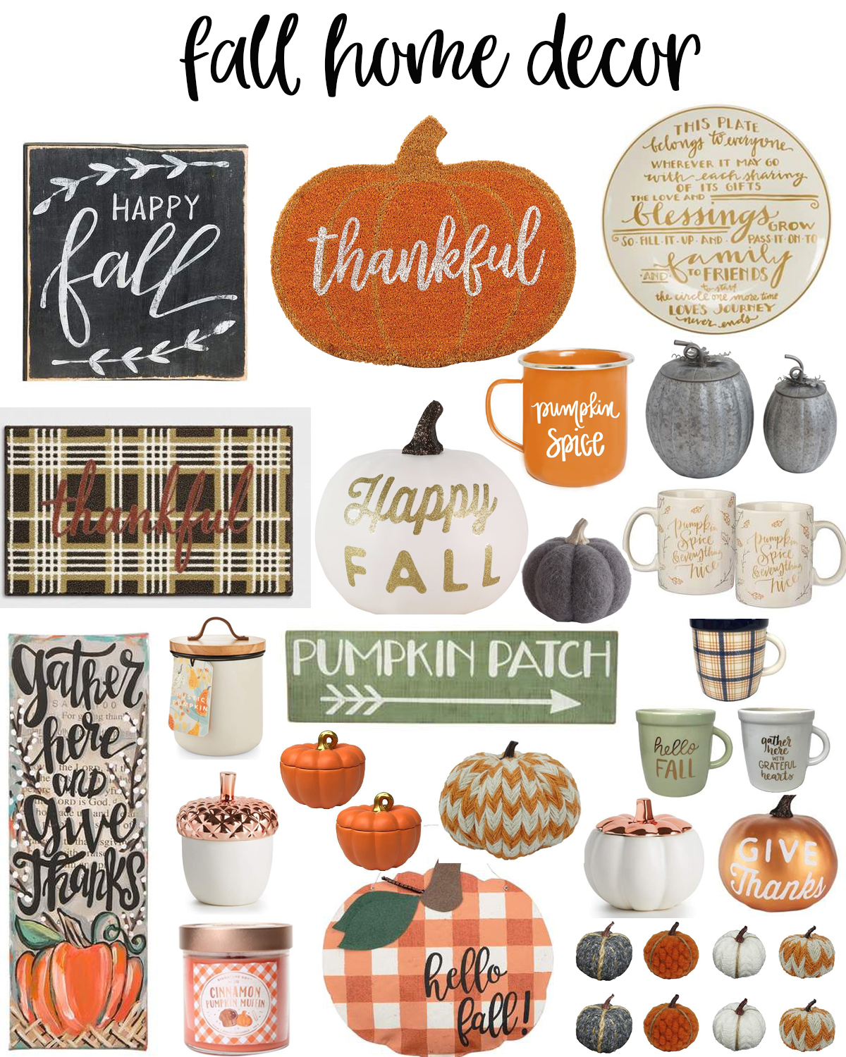 Cute Fall Home Decor Ideas to Bring the Harvest Home featured by popular Houston lifestyle blogger, Fancy Ashley