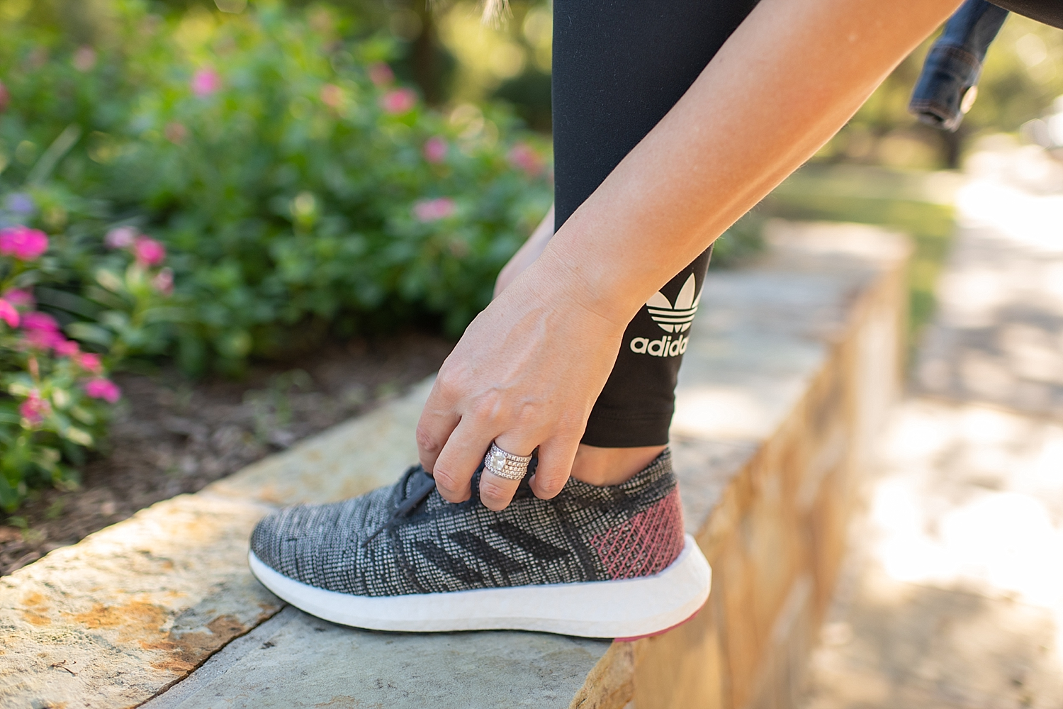 Self Care Tips featured by top Houston lifestyle blog, Fancy Ashley: Adidas Pureboost running shoes