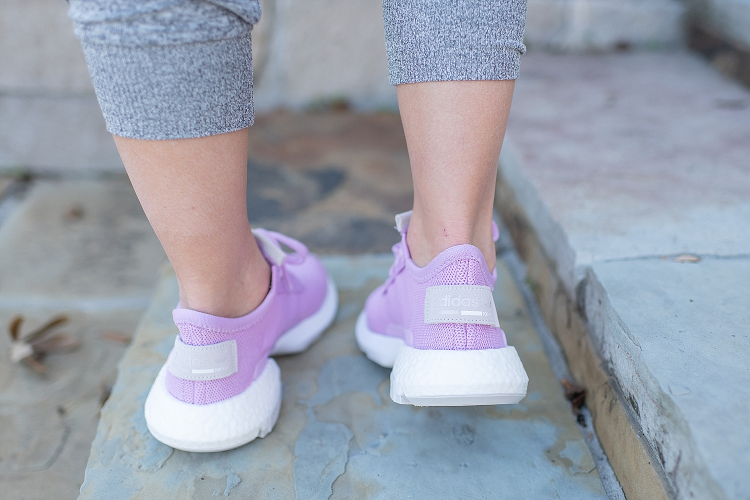 Adidas pink fall sneakers featured by top Houston fashion blog, Fancy Ashley
