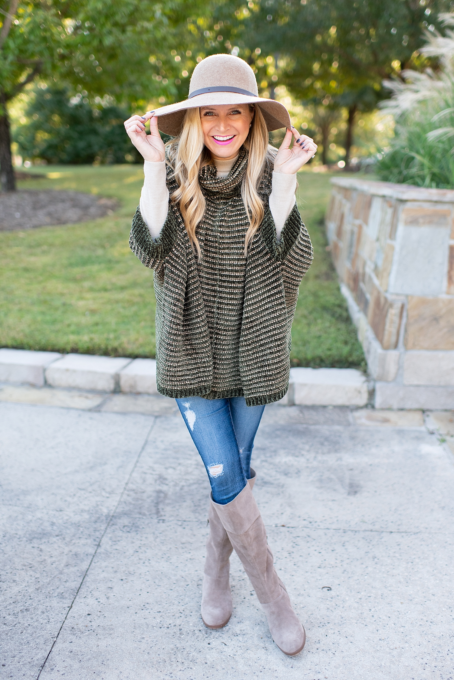 The Ultimate Cyber Monday Shopping Deals featured by top Houston life and style blogger, Fancy Ashley: picture of a woman wearing a hat, Sole Society boots