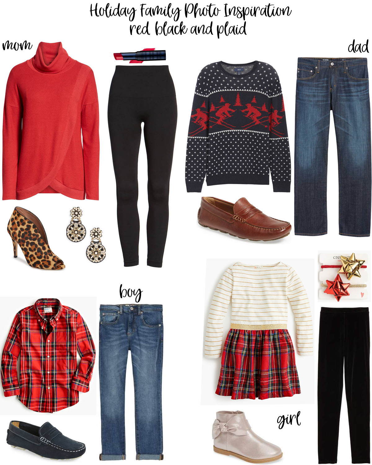 holiday family photo ideas: what to wear featured by top Houston life and style blog, Fancy Ashley
