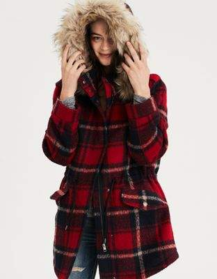 The Ultimate Cyber Monday Shopping Deals featured by top Houston life and style blogger, Fancy Ashley: American Eagle plaid coat