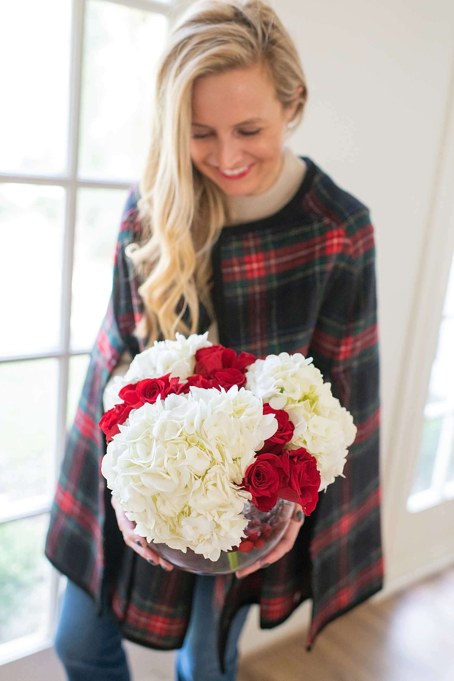 Our Christmas Table Setting with Macy's featured by top Houston lifestyle blogger, Fancy Ashley: flowers