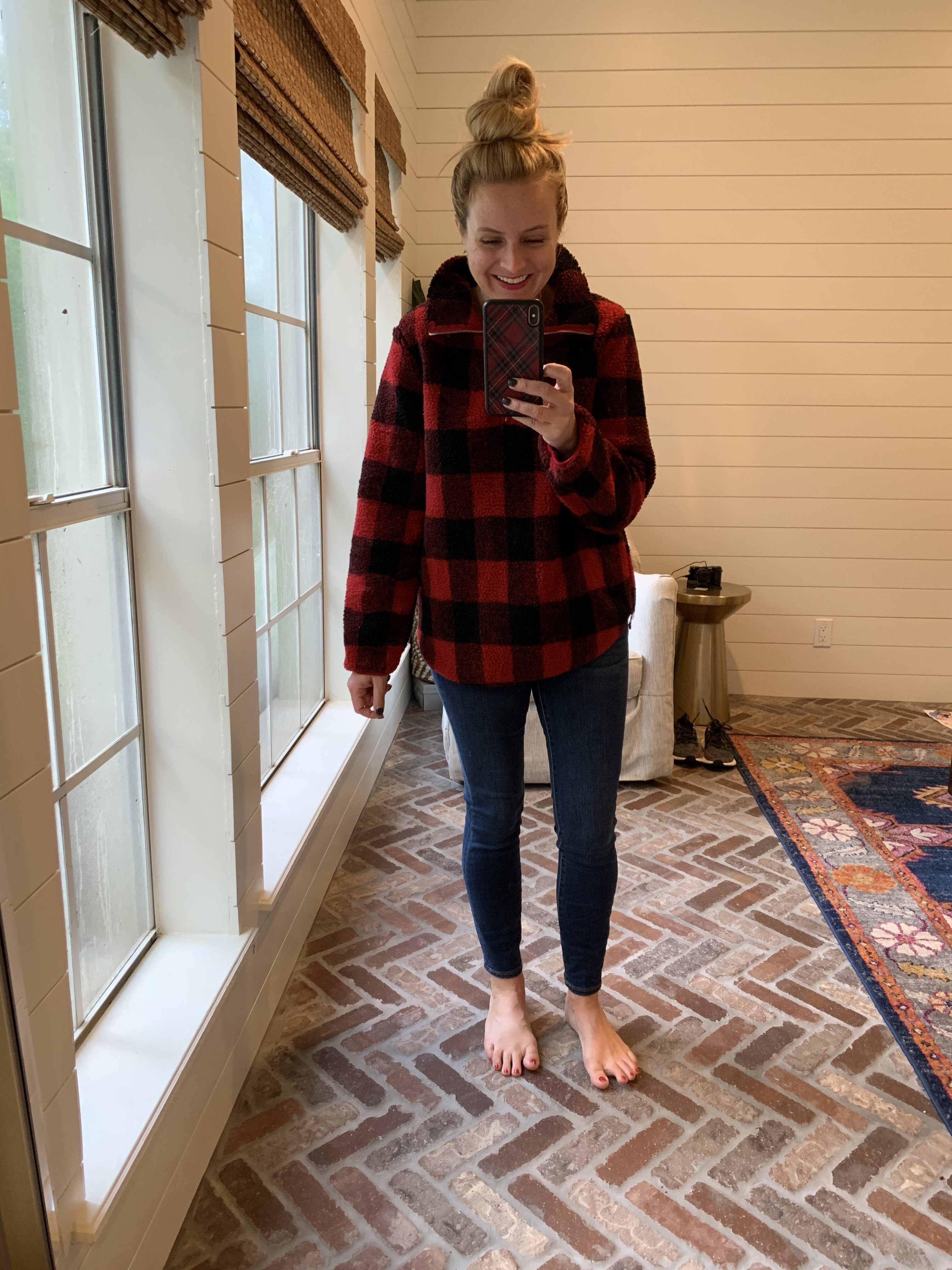 Amazon Favorites featured by top Houston fashion blog, Fancy Ashley: plaid pullover