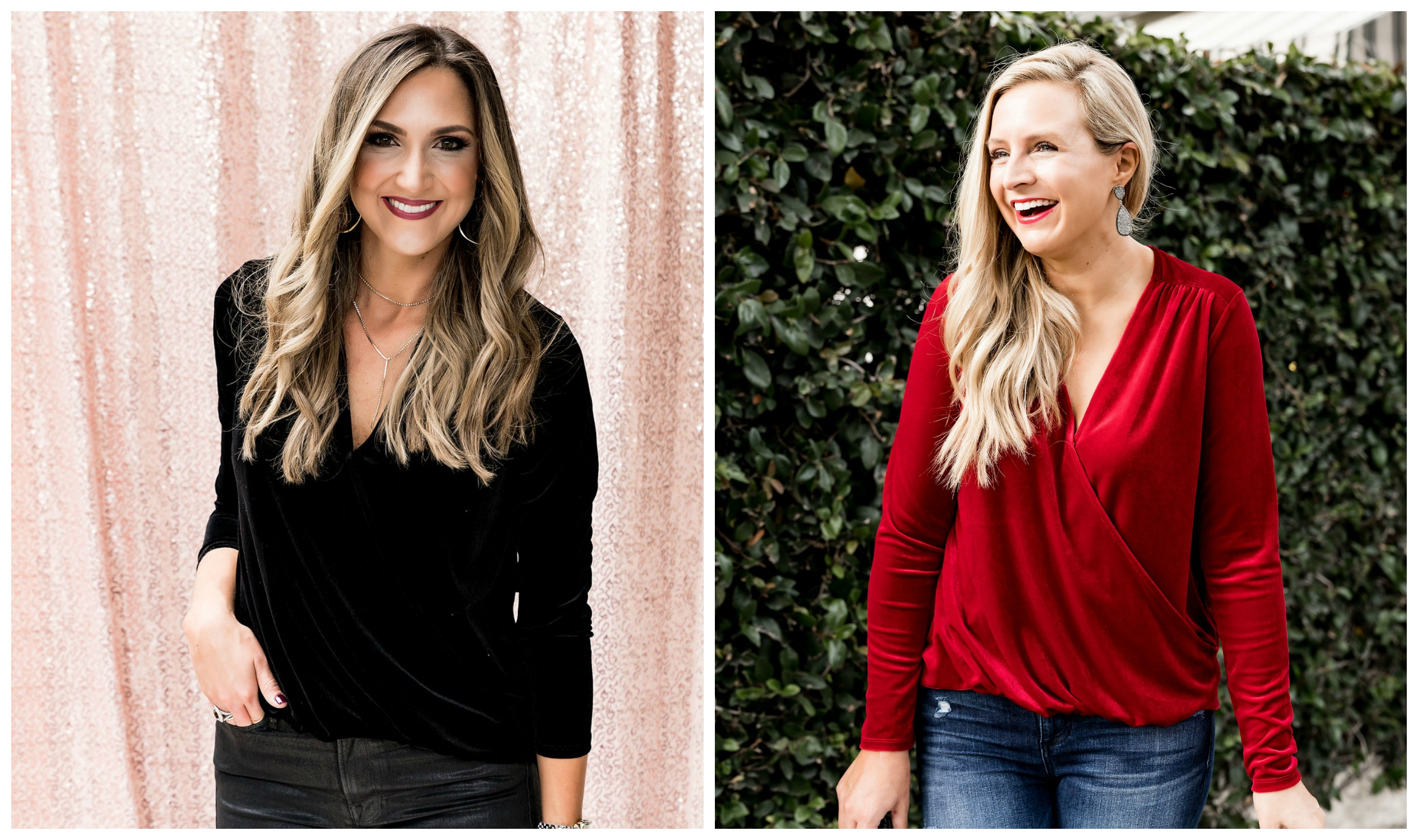 The Latest Nordstrom Collection: Gibson x Glam Collection featured by top Houston fashion blog, Fancy Ashley - velvet wrap top