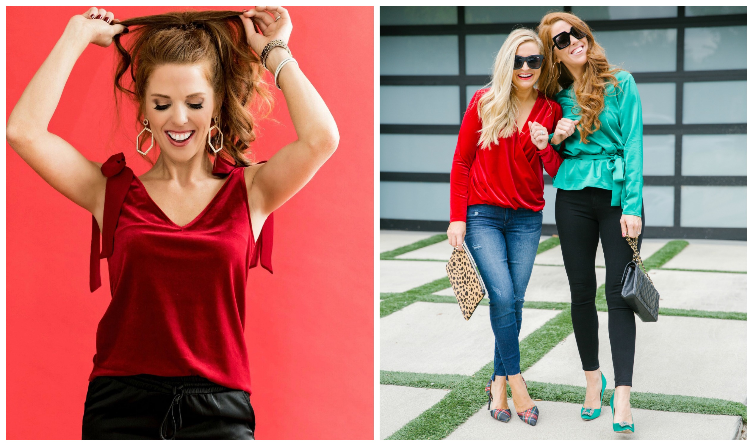 The Latest Nordstrom Collection: Gibson x Glam Collection featured by top Houston fashion blog, Fancy Ashley - bow velvet top