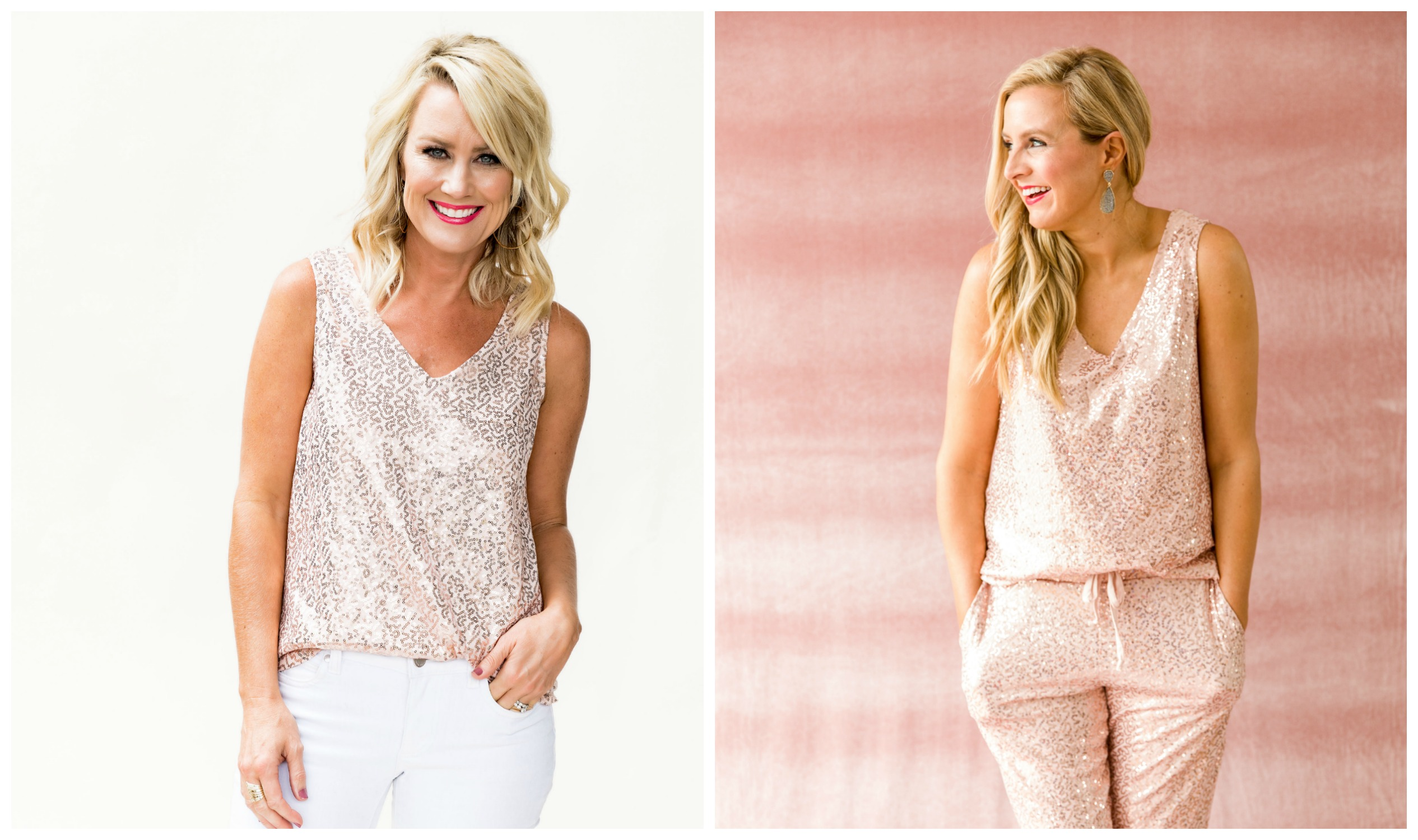 The Latest Nordstrom Collection: Gibson x Glam Collection featured by top Houston fashion blog, Fancy Ashley - sequin tank top