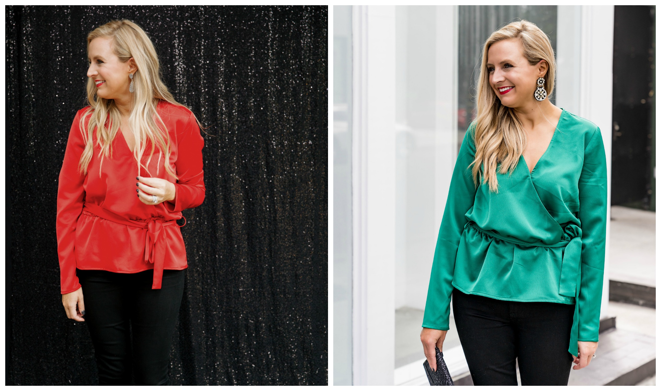 The Latest Nordstrom Collection: Gibson x Glam Collection featured by top Houston fashion blog, Fancy Ashley - faux wrap top